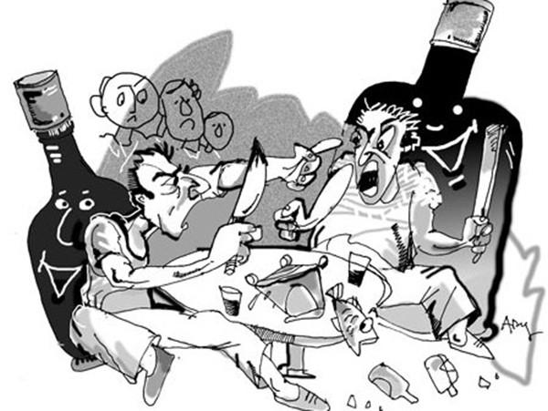Bướ 8: Say rượu làm bạn không kiểm soát được sự tức giận,kiểm soát sự tức giận