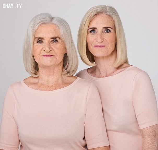 ,mẹ và con gái,giống nhau