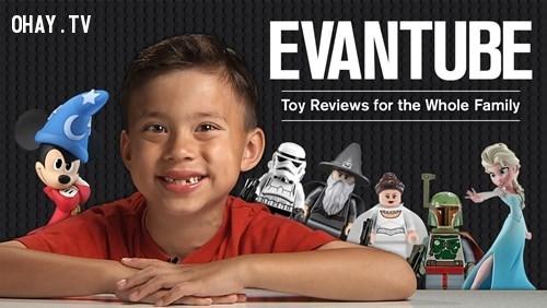 3. Evan - EvanTube,triêu phú,làm giàu,tuổi teen,khởi nghiệp