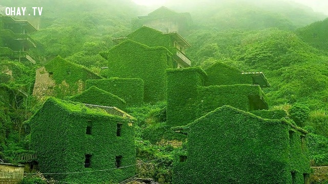 Một làng chài hoang vắng trên sông Dương Tử, Trung Quốc,địa điểm hoang vắng