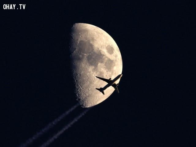 Máy bay đã bay đến Mặt trăng ư?,ảnh đẹp,ảnh không photoshop