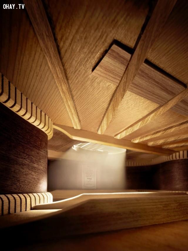 Bạn nghĩ đây là gì? Đó là hình ảnh bên trong đàn guitar, đừng ngạc nhiên nhé.,ảnh đẹp,ảnh không photoshop