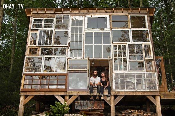 Cửa sổ nhìn ra thế giới,thiết kế độc đáo,nhà trong rừng