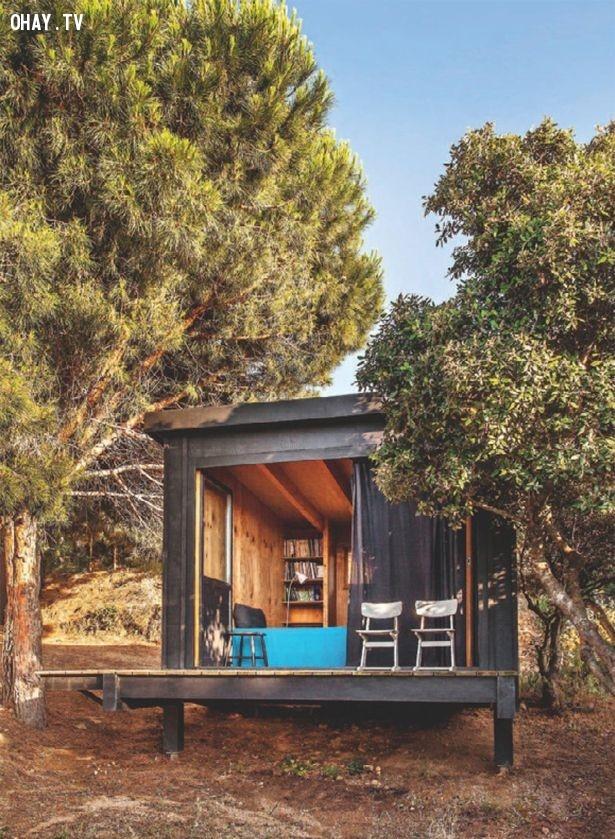 Nhà đá,thiết kế độc đáo,nhà trong rừng