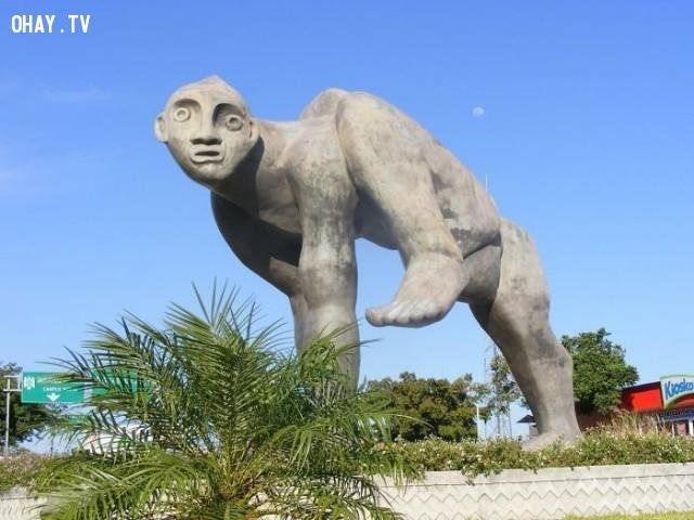 Chân dung tục tĩu, ở Colima, Mexico,bức tượng,nghệ thuật điêu khắc,xấu xí
