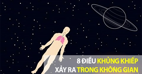 8 điều khủng khiếp xảy ra với cơ thể ở ngoài không gian