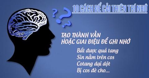 10 cách để cải thiện trí nhớ