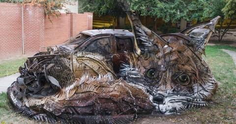 Kinh ngạc trước những tác phẩm nghệ thuật làm từ đồ tái chế