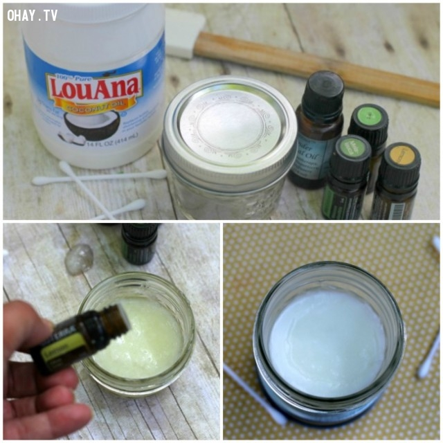 Dầu dừa + chanh,mụn đầu đen,trị mụn,chăm sóc da mặt