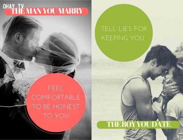 Sự chân thật,hẹn hò,kết hôn,thay đổi,đàn ông