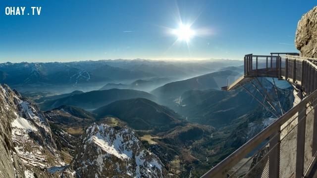 Chiếc cầu bắc qua sông băng Dachstein, Áo,du lich,ngoan muc,quang canh