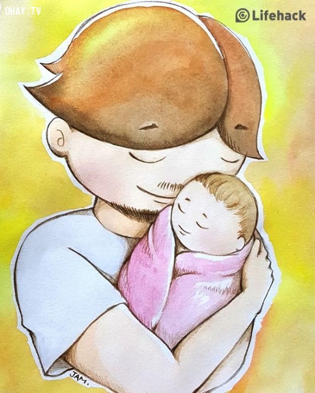 ,ba và con gái,tình cảm gia đình,Mon mon