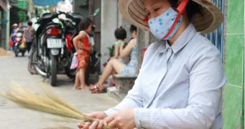 Xóm chổi đót duy nhất ở Sài Gòn