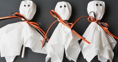 Ý tưởng hay mùa Halloween [dễ thực hiện]: Kẹo mút hình chú ma ngộ nghĩnh
