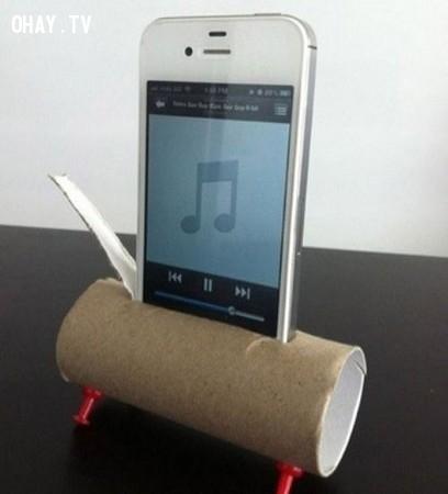 6. Tạo loa cho điện thoại thông minh,lõi giấy vệ sinh,sáng tạo