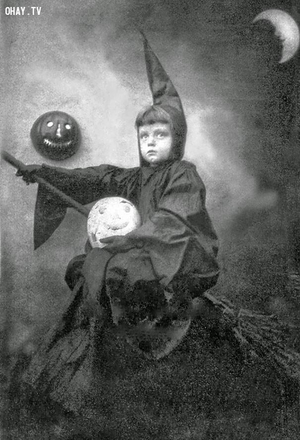#9,ảnh đen trắng,vintage halloween,cảm giác ghê rợn,ảnh thời xưa