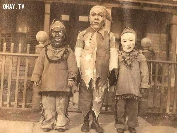 #1,ảnh đen trắng,vintage halloween,cảm giác ghê rợn,ảnh thời xưa