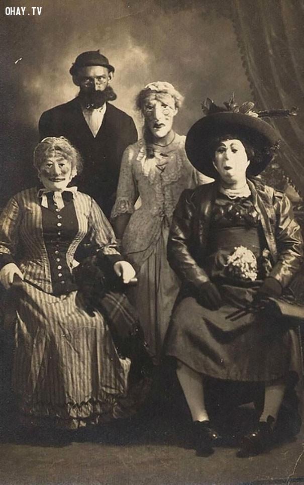 #10,ảnh đen trắng,vintage halloween,cảm giác ghê rợn,ảnh thời xưa