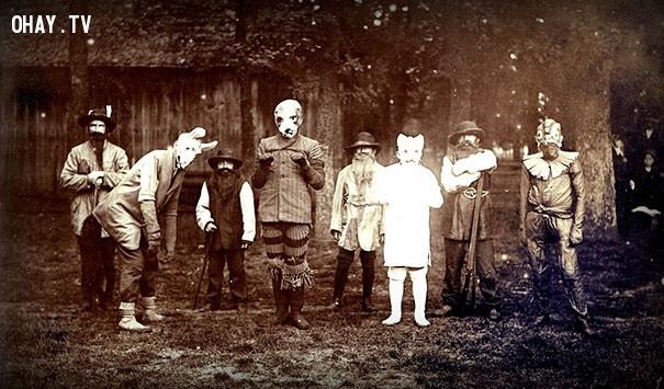 #8,ảnh đen trắng,vintage halloween,cảm giác ghê rợn,ảnh thời xưa