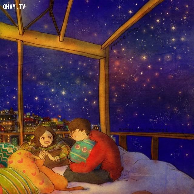 17. Đơn giản là trò chuyện cùng nhau thâu đêm suốt sáng,tình yêu