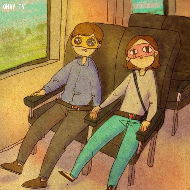 6. Cứ thế an yên bên nhau, chẳng cần cố gắng bắt đầu cuộc nói chuyện để gây ấn tượng với người ấy,tình yêu