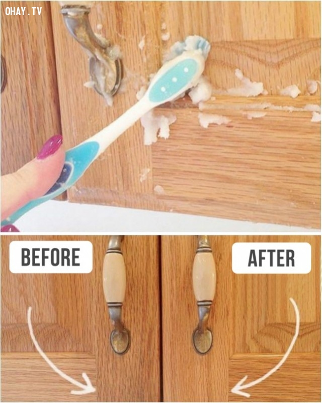 3. Làm thế nào để dọn sạch tủ bếp,mẹo vặt,đồ gia dụng