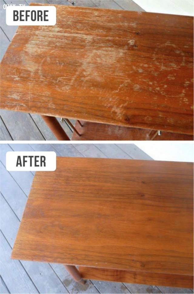 1. Làm thế nào để bàn gỗ luôn như mới,mẹo vặt,đồ gia dụng