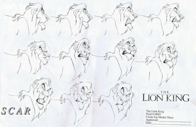 2. Thực sự có hơn một triệu hình ảnh được vẽ bằng tay cho đến khi bộ phim hoàn thành.,vua sư tử,The Lion King,sự thật thú vị,những điều thú vị trong cuộc sống,phim hoạt hình Disney