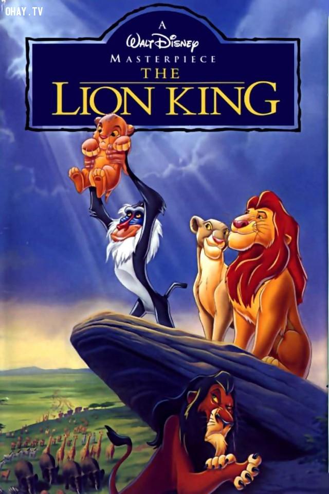 5. Vua sư tử là phim hoạt hình đầu tiên của Disney không được chuyển thể từ một câu chuyện có sẵn.,vua sư tử,The Lion King,sự thật thú vị,những điều thú vị trong cuộc sống,phim hoạt hình Disney
