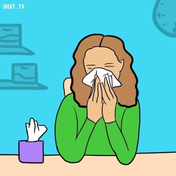 Làm sạch mũi,nước mắt,sức khỏe
