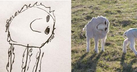 Ông bố hiện thực hóa tranh vẽ của cậu bé 6 tuổi hài hước