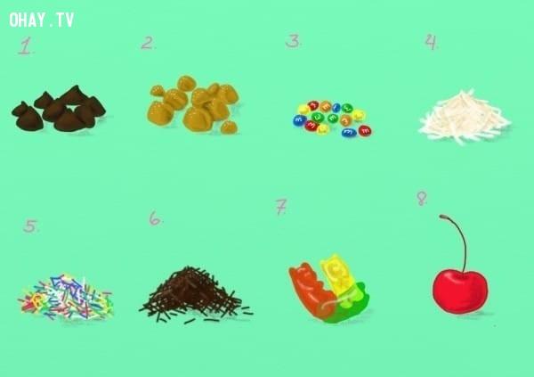 4. Topping mà bạn thích là gì?,trắc nghiệm vui,trắc nghiệm tính cách,vị kem yêu thích