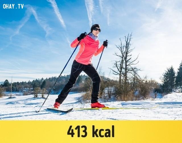Trượt tuyết,giảm cân