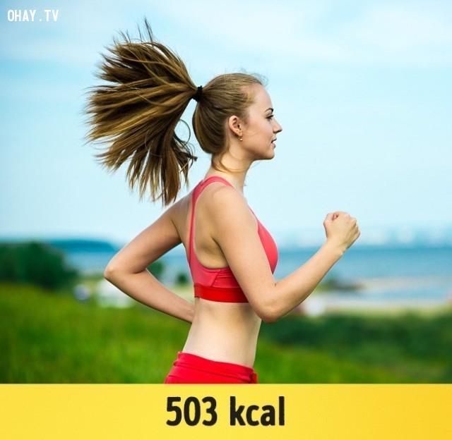Chạy ở tốc độ 4 dặm một giờ (8 km / h),giảm cân