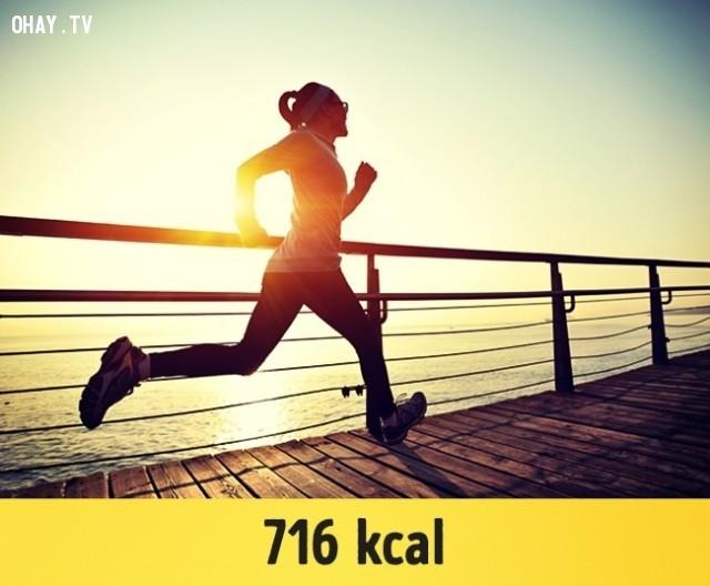 Chạy với tốc độ 8 dặm một giờ (13 km / h),giảm cân