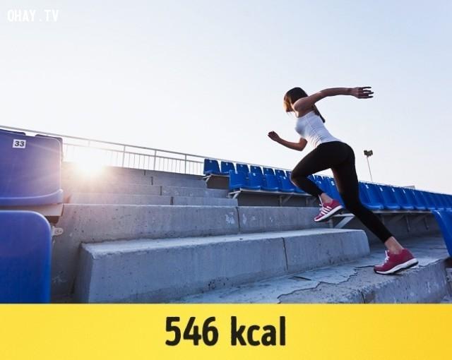 Chạy lên cầu thang,giảm cân