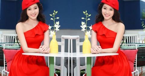 5 kiểu đầm xòe màu đỏ siêu quyến rũ cho bạn nữ khoe sắc