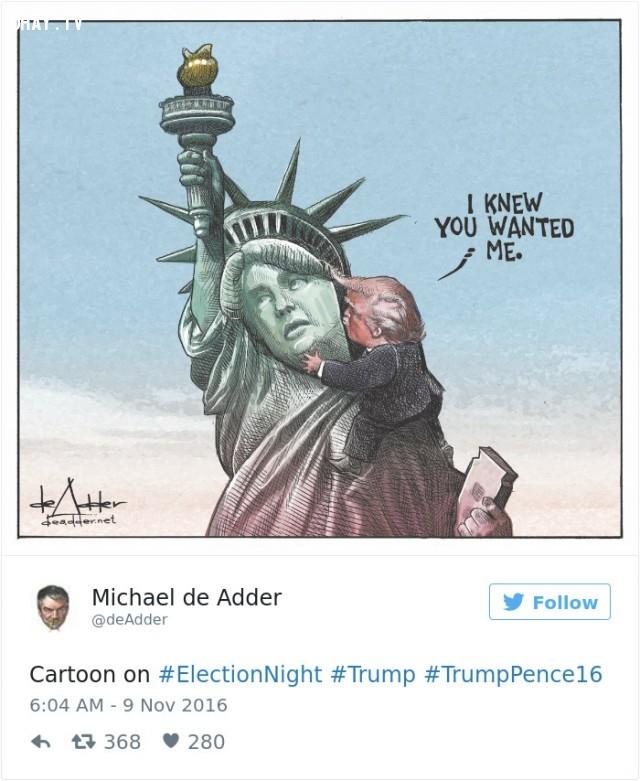 #13,Donald Trump,tranh biếm họa,tổng thống mỹ,bầu cử