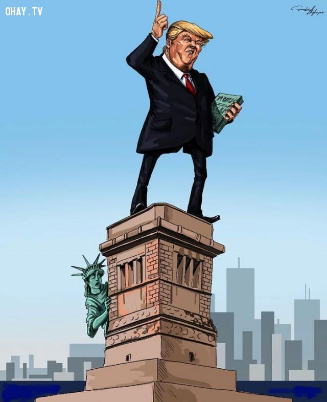 #14,Donald Trump,tranh biếm họa,tổng thống mỹ,bầu cử