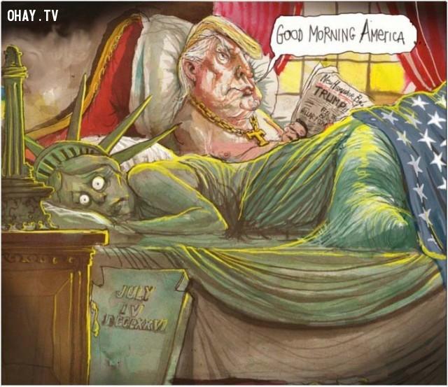 #1,Donald Trump,tranh biếm họa,tổng thống mỹ,bầu cử