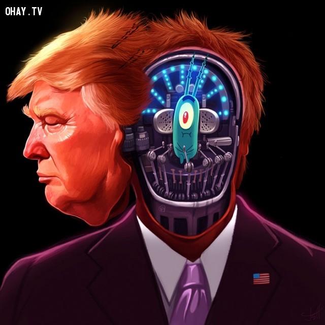 #4,Donald Trump,tranh biếm họa,tổng thống mỹ,bầu cử