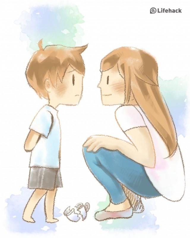 Trách phạt con một cách trìu mến,nuôi dạy con cái,sự yêu thương