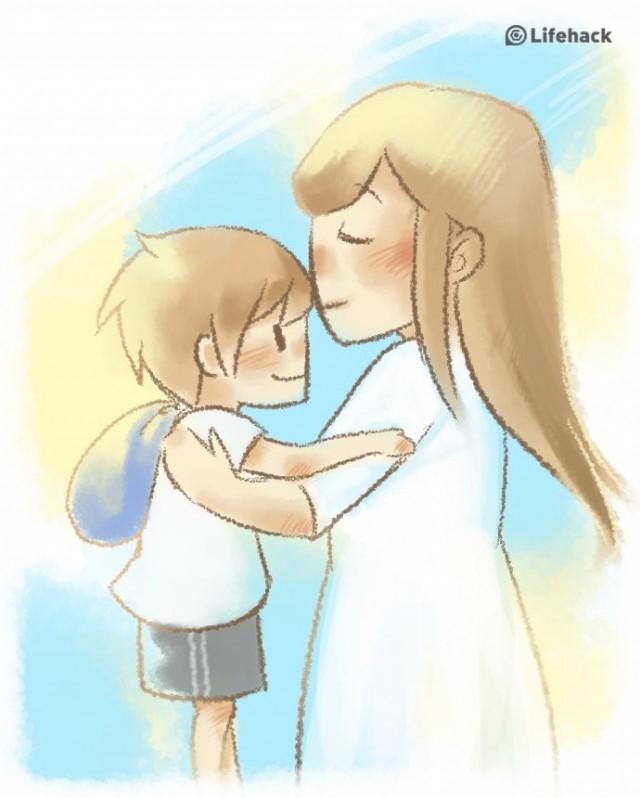 Ôm và hôn trẻ mỗi ngày,nuôi dạy con cái,sự yêu thương