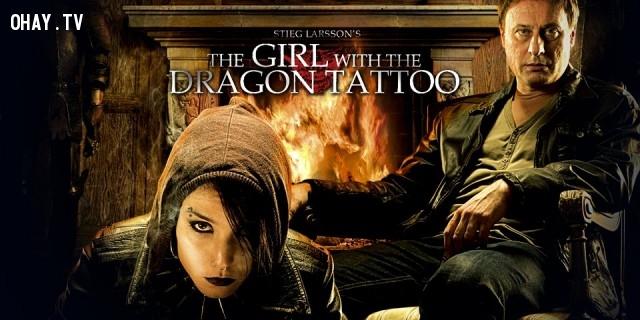 3. The girl with the dragon tattoo (cô gái có hình xăm rồng) ,phim trinh thám hay,xem phim phá án,phim hay