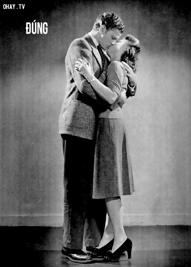 Hôn đúng: chàng trai và cô gái nên đứng gần nhau và không nên ôm quá chặt,cách hôn đúng,hướng dẫn hôn