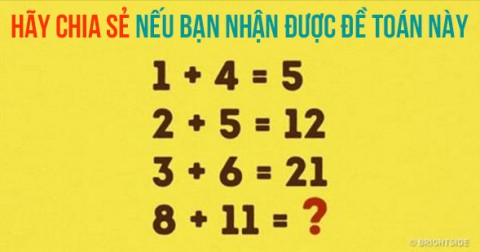 Chỉ 1 trong 1000 người giải đáp đúng đề toán này. Liệu bạn có thể?