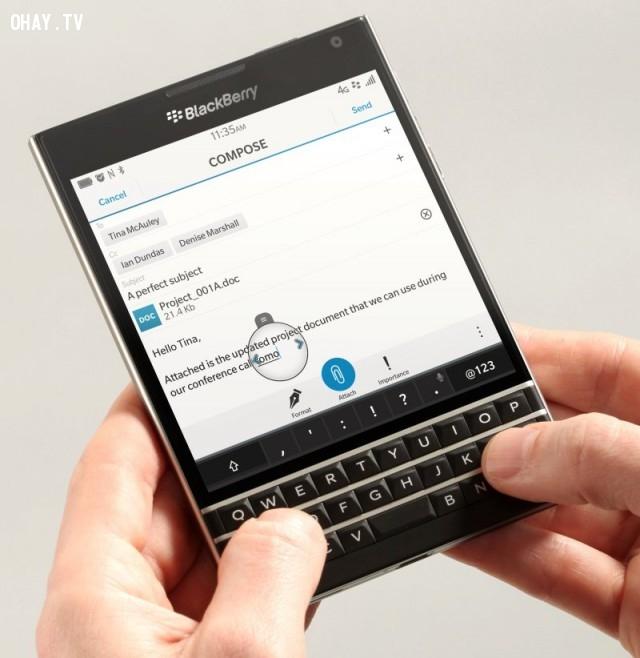BlackBerry Passport,smartphones,xếp hạng,điện thoại