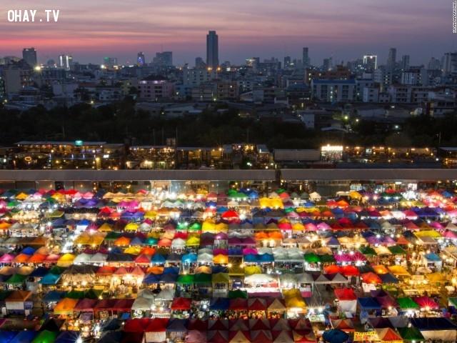 Chợ đêm ở Bangkok ( Thái Lan).,Cảnh đẹp thế giới