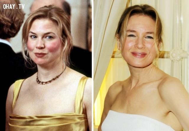 1. Renée Zellweger — Vai tiểu thư Bridget Jones,Nhật ký tiểu thư Jones,diễn viên,ngày ấy bây giờ
