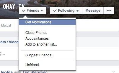 """22. Nhận thông báo ngay lập tức khi một người """"nào đó"""" viết bài trên Facebook,Facebook,mẹo công nghệ"""